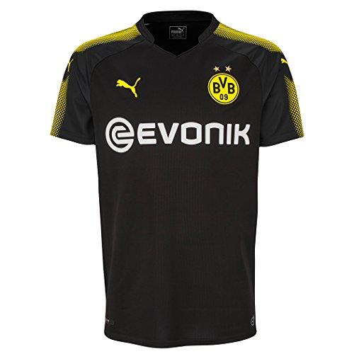 PUMA BVB Borussia Dortmund Maglia da Trasferta 2017/2018, Nero/Giallo, XXL