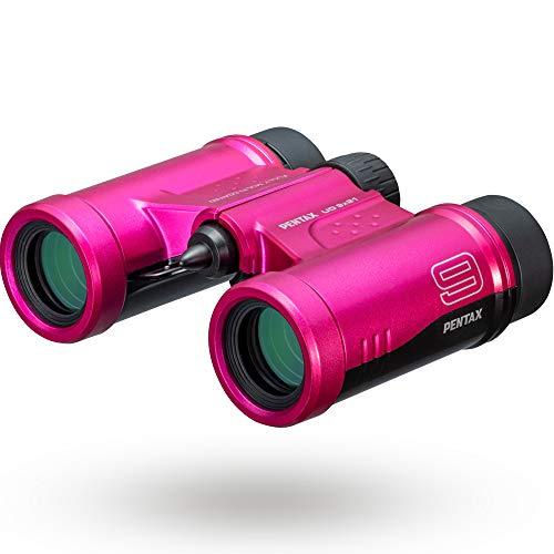 PENTAX 双眼鏡 UD 9x21 ピンク 明るく見やすい視界を確保, 持ち運びしやすいダハプリズムの小型ボディ, フルマルチコーティング採用でフレアやゴーストを抑えた良好な像性能を実現, 倍率と明るさを両立した倍率9倍, 三脚対応, コンサート スポーツ観戦 旅行 メーカー保証1年 ペンタックス 61815