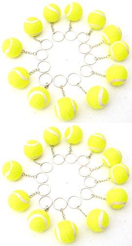 24 X Tennisbälle 4 cm Tennis Ball Schlüsselanhänger gelb by schenkfix