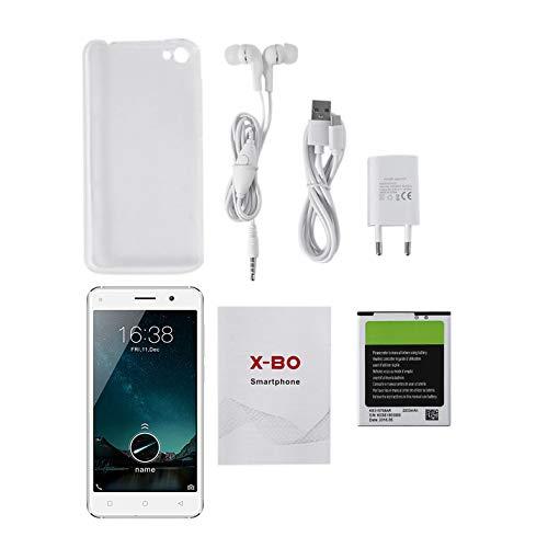 O7 MT6580 Quad Core 1,3 GHz Prozessor 5 Zoll QHD IPS LCD 960 * 540 Dual SIM Dual Standby 2200mAh Smartphone - Weiß