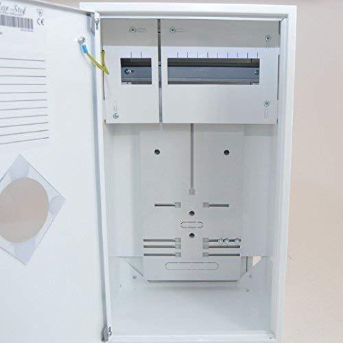 Zählerschrank Sicherungskasten Verteilerkasten f. 1x Zähler 1-Ph + 12 Sich.