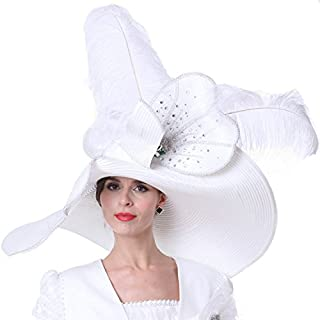Women Church Hats Outfits Hat Wedding White with Suits Available