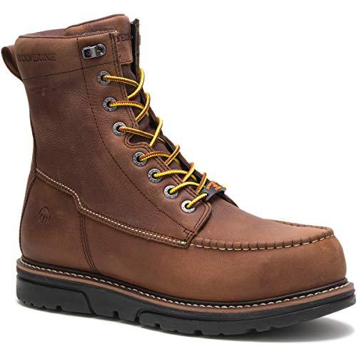 Wolverine mens I-90 Durashocks Moc-toe 8' Work Boot Brown Size: 7 X-Wide