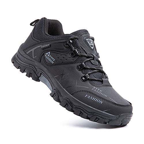 Hiking Shoes Men Non-Slip Low Rise Trekking Boots Synthetic Breathable Walking Shoes Outdoor All...