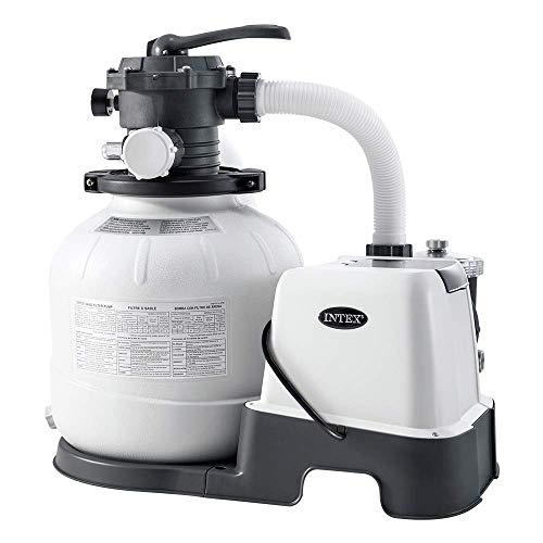 Intex 26676 - Sistema Combinado depuradora Arena y clorador salino Eco 7 Gramos/Hora, 32.000 litros