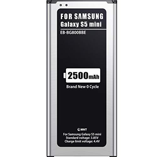 EMNT Batería Compatible con Galaxy S5 Mini, batería de Repuesto Mejorada para teléfono móvil de 2500 mAh – sin NFC de Repuesto de Alto Rendimiento para Samsung Galaxy S5 Mini