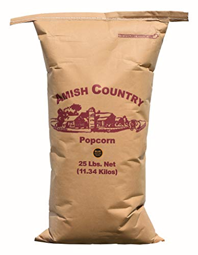 Amish Country Popcorn   25 lb Bag   Blue Popcorn Kernels   Old Fashioned with Recipe Guide (Blue - 25 lb Bag)