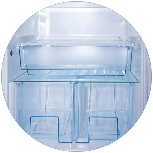 Wallario rundes Glasbild Leerer Kühlschrank - offene Leere ohne Inhalt - 50 cm Durchmesser in Premium-Qualität: Brillante Farben, freischwebende Optik
