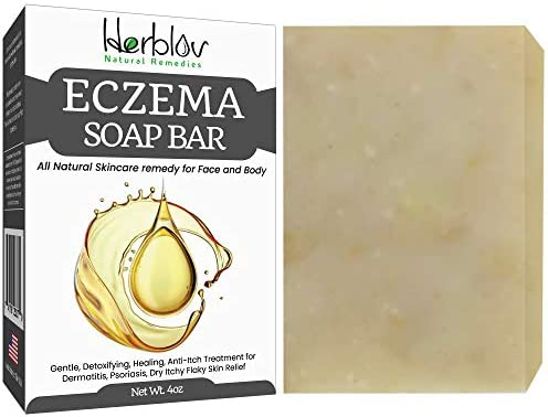 Eczema Soap Bar for Face and Body All Natural Dermatitis Psoriasis Treatment for Dry Itchy Flaky product image