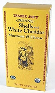 Trader Joe's Organic Shells & White Cheddar Macaroni and Cheese 6 oz (Case of 6)