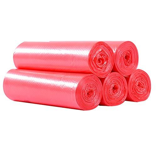 ypypiaol 100Pcs Desechable Hogar Hotel Oficina Residuos Basura Basura Basura Bolsa Bolsa De Basura Esencial rojo 100 piezas