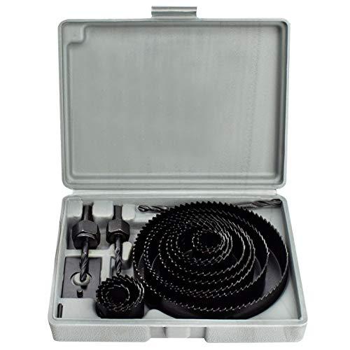 CUTTEX TOOLS Hole Saw Kit, 18 Pcs Full Set Hole Saw Kit, 3/4