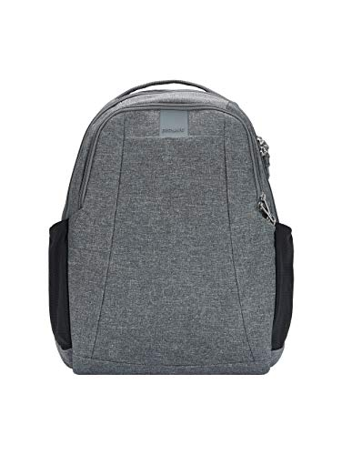 Pacsafe Metrosafe LS350 Anti-Theft Leisure Backpack 15L, Dark Tweed 123 (Grey) - PAC30430