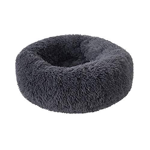 Cama para Mascotas, Peluche Super Suave Bed Bed Kennel Redondo Bolsa de Dormir Lazy Cat House Cálido Invierno Sofá Cesta Pequeño Perro Medio Medio para Mascotas (Color : L, Size : XL Diameter 80cm)