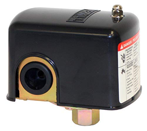 Merrill MPS3050 Water Well Pressure Control & Air-Pump Pressure Switch, 30-50 PSI Pressure Setting, NEMA 1, Adjustable Differential,1/4