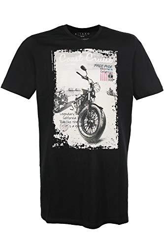 Kitaro Men Tshirt V1/2, Black, schwarz((100)), Gr. 3XL