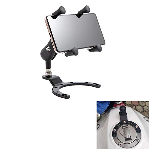 Soporte para teléfono de Motocicleta Soporte de GPS en la Tapa del Tanque Soporte de teléfono Inteligente Ajustable para RT1200 / Z900 / CBR/CBF (Size A)
