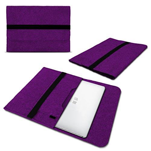 Schutzhülle kompatibel für Trekstor Primebook C13 / P14 / P14B / P13 Filz Tasche Sleeve Hülle Laptop Cover Notebook Hülle, Farbe:Lila