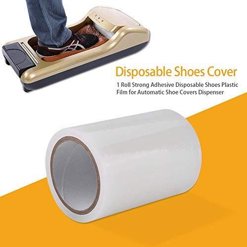 Plastic Film,1 Roll 5.91x4.13inch Sterke Lijm Verwijderbare Schoenen Covers Membraan Film voor Automatische Schoen Cover Dispenser