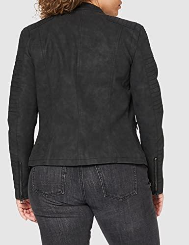 ONLY Onlava Pu Biker Otw Noos - Chaqueta para mujer, color negro, talla 42