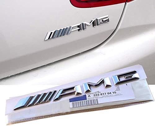 Ricoy New Style 3D Für /// AMG Emblem ABS Trunk Logo Abzeichen Dekoration Geschenk Aufkleber (Chrom)