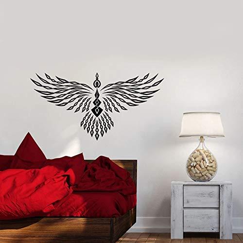 Tianpengyuanshuai Fototapete geometrische Phoenix Vogel Flügel Vinyl Fensterglas Aufkleber Schlafzimmer Wohnzimmer Dekoration 75x145cm