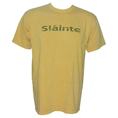 Celtic Clothing Company Slainte Shirt - Yellow, XX-Large