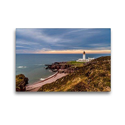 CALVENDO Premium Textil-Leinwand 45 x 30 cm Quer-Format RUA Reidh Leuchtturm, Leinwanddruck von HeschFoto