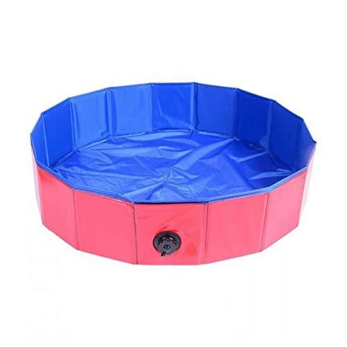 LOVIVER Hundebadewanne faltbar Kunststoff Hundepool kleine Hunde Swimmingpool Planschbecken Indoor Outdoor Welpenpool - Rot