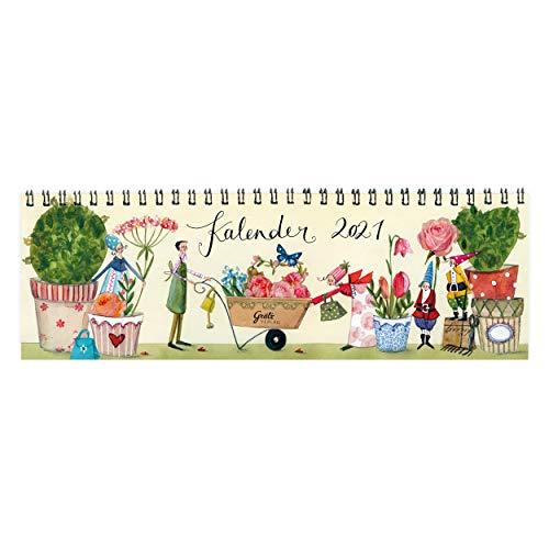 Wochenplaner 2021 als Tischkalender | Tischquerkalender für Büro oder Zuhause, mit Wochennummern, Feiertagen und motivierenden Lebensweisheiten, Querformat