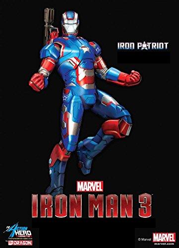 Dragon Action héros Echelle 1/9 Iron Man 3 Iron Patriot Vignettage Marvel
