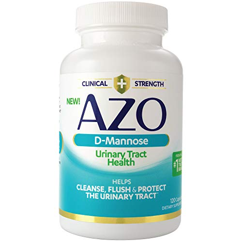 AZO D-Mannose Urinary Tract Health, Cleanse Flush & Protect The Urinary Tract*, Clinical Strength D-Mannose, Drug-Free Protection, 120 Count
