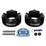 Supreme Suspensions - Front Leveling Kit for 2007-2020 Toyota Tundra and 2008-2020 Toyota Sequoia 2' Front Lift Strut Spacers 2WD 4WD (Black)