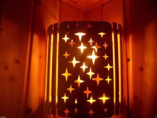 Sauna Lampe Holzblendschirm Lampenschirm