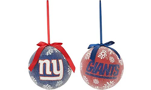 BB Sports LED Light-up Ornament Set of 2 (New York Giants)