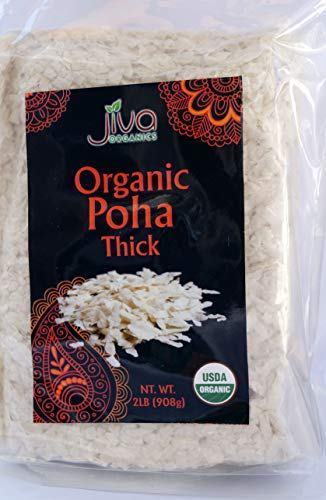 Organic Poha Thick 2 Pounds - Jiva