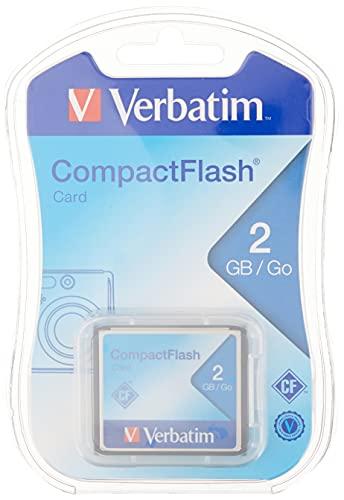 Verbatim 2GB CompactFlash Memory Card, Black, Model Number: 47012