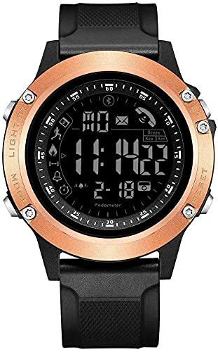 Reloj Deportivo Digital Pasos Mensaje Call Reminder Alarma Cámara remota Reloj Digital Inteligente (Color: 01, Tamaño: Un tamaño) (Color : 01, Size : One Size)