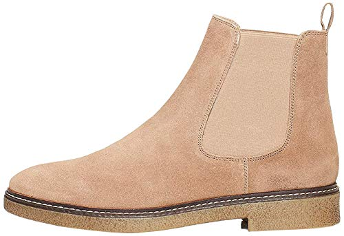 Marque Amazon - find. Gum Sole Heavy Rand Bottes Chelsea, Gris Taupe), 38 EU