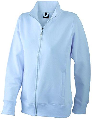 James & Nicholson Damen Jacket Sweatshirt, Weiß (White), 40 (Herstellergröße: XL)