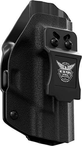 "We The People Holsters - Black - Right Hand Inside Waistband Concealed Carry Kydex IWB Holster Compatible with Springfield XDm 3.8"" Compact 9MM/.40SW/.45"