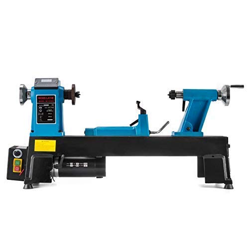 Mophorn Wood Lathe 12 x 18 Inch,Bench Top Heavy Duty Wood Lathe Variable Speed 500-3800 RPM, Mini Wood Lathe Regulation Digital Display