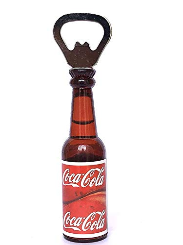 FRESCORR - Abridor de botellas con imán para nevera. Abrebotellas con forma de cerveza, material de cristal – forma 3D como botella (diseño 3)