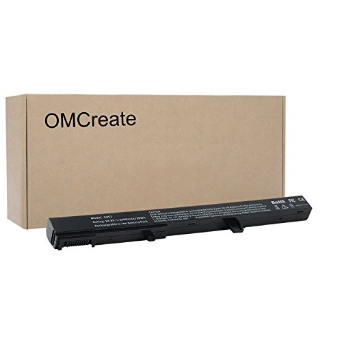 OMCreate Battery Compatible with Asus A31N1319 X551C X551 X451C X451 D550 Series, fits P/N A41N1308 A31LJ91-12 Months Warranty [Li-ion 4-Cell]