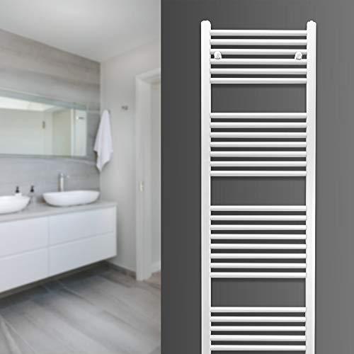 Badheizkörper Zimmerheld Heat Basic, Handtuchtrockner Handtuchwärmer, Seitenanschluss, Farbe: weiß, Größe: 30x120cm