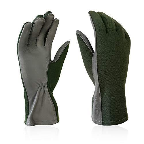 Intra-FIT Military Uniform Supply Pilot gloves Nomex Flight Gloves Shorter Length Sage Green Flyers Glove