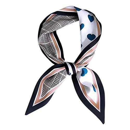 Namgiy Bufanda para el pelo, bolsa de decoración para pañuelos, muñequera, accesorios de muñeca, patrón de corazón, para mujeres, niñas, festivales, cumpleaños, descenso de 85 cm, azul, 85 cm