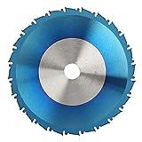 AMONIDA Hojas de Sierra Circular, Hojas de Sierra de Madera con Recubrimiento Azul Disco de Hoja de Corte para Amoladora Angular(300 * 2.8 * 30 * 80T)