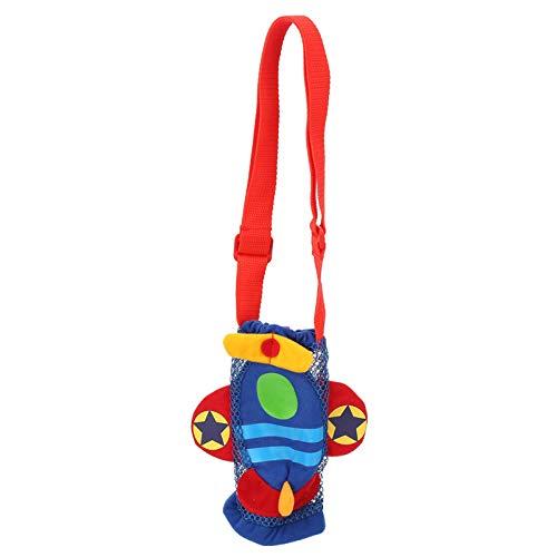 DERCLIVE Kinder-Trinkflaschen-Tasche, Tragetasche, Baby-Karikatur-Wasserflasche mit Griff (Flugzeug)