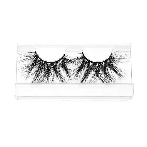 Woman's Fashion Thick Long Wispies Fluffies Eye Makeup Tools 100% 3D Mink Hair Eye Lash Extension 25mm lashes False Eyelashes(SK06)